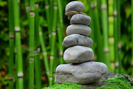 zen rocks balanced and harmonious